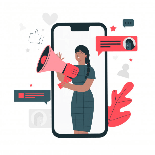 social media ads illustration